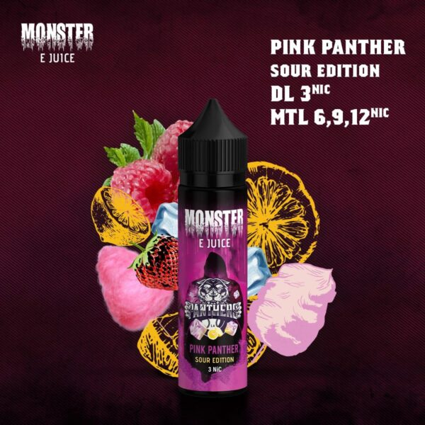 MONSTER PINK PANTHER SOUR EDITION E-LIQUID